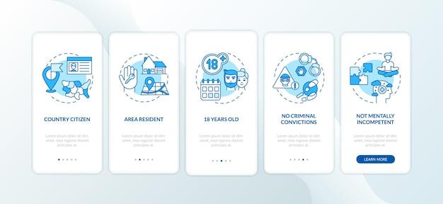 Требования к онлайн-голосованию на экране страницы мобильного приложения с концепциями