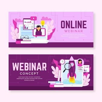 Online webinar banner template