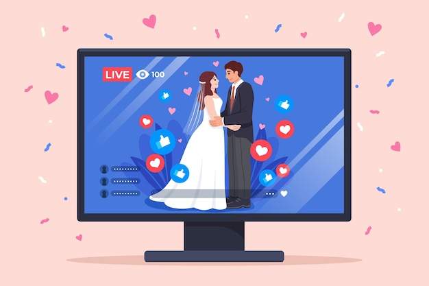 Online wedding ceremony