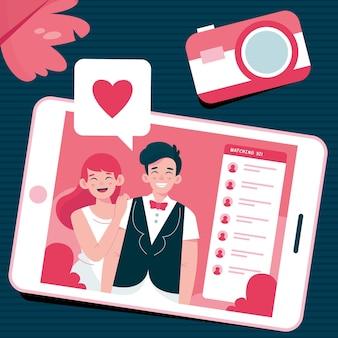 Online wedding ceremony