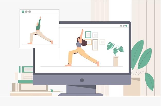 Online yoga lesson