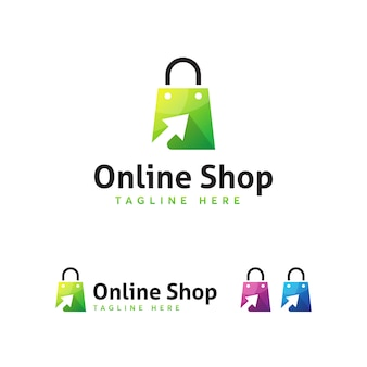 Onlone shop logo template