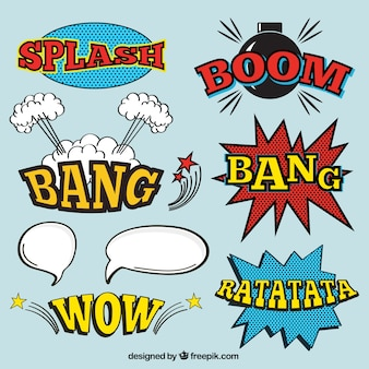 Onomatopoeia pack in comic style