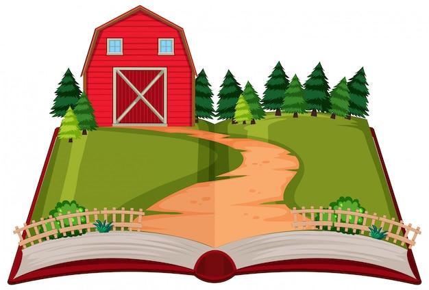 Opem book rural house theme