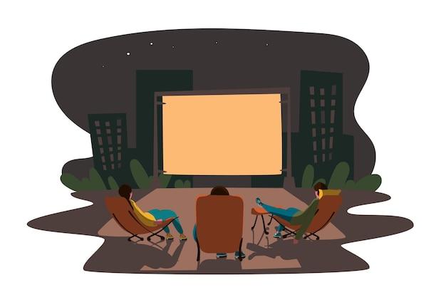 Концепция кинотеатра под открытым небом