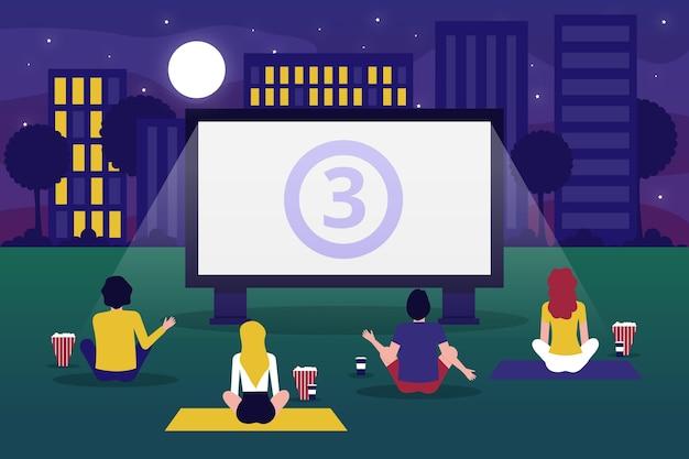 Open air cinema concept