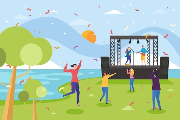 Open air concert concept