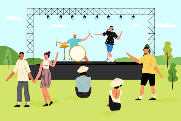 Open air concert illustration