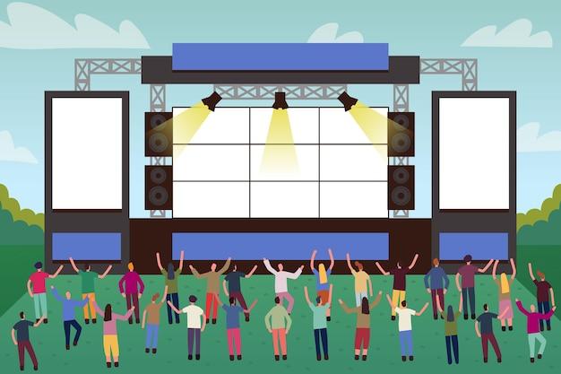 Концерт под открытым небом со сценой