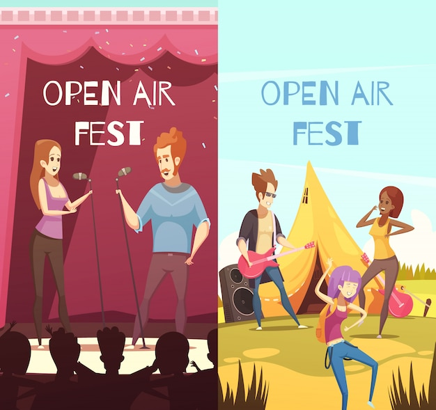 Open air festival banners set