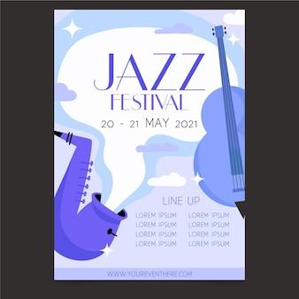 Дизайн плаката музыкального фестиваля под открытым небом