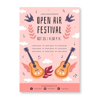 야외 음악 축제 포스터 템플릿