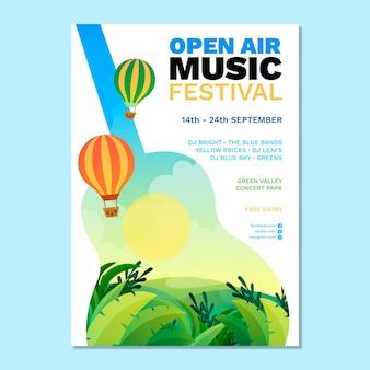 Manifesto del festival musicale all'aperto