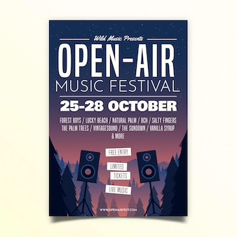 Open air music festival poster