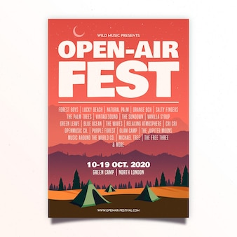 野外音楽祭ポスター