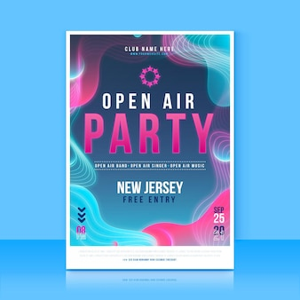 Open air party poster design