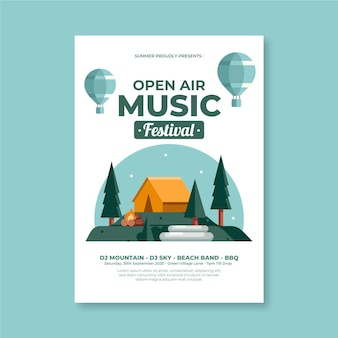 Open air party poster template