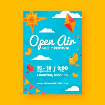 Open air party poster theme