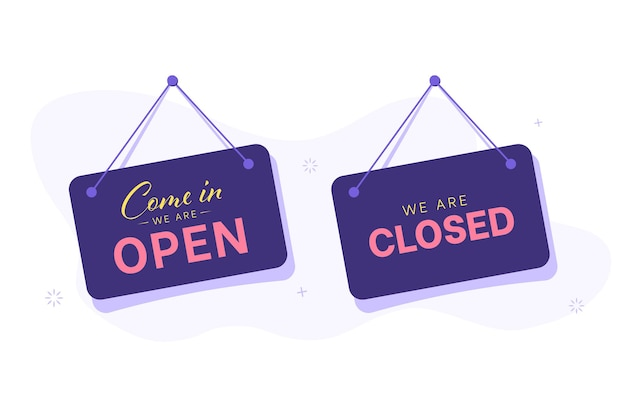 Открытые и закрытые вывески