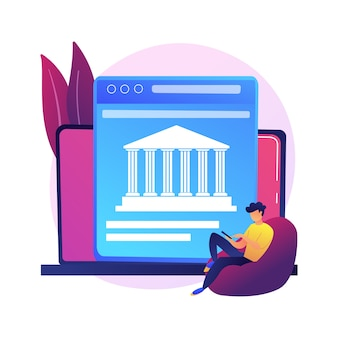 Open banking data access. financial services, mobile payment app development, api technology. web developers designing banking platforms Free Vector