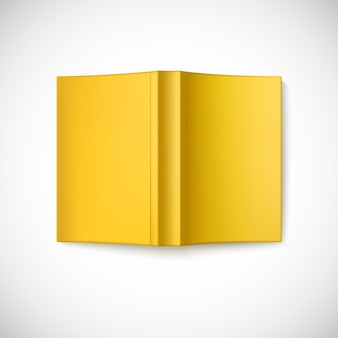 空白のブックカバーを開く