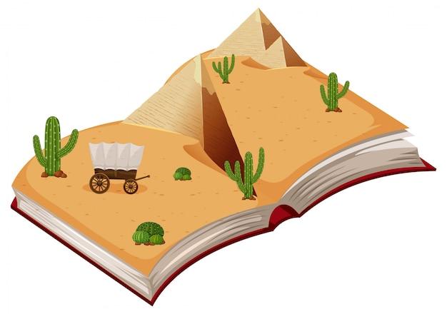 Open book desert theme