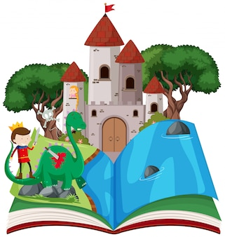 Open book fairy tale  theme