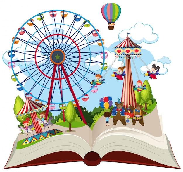 Open book fun fair theme