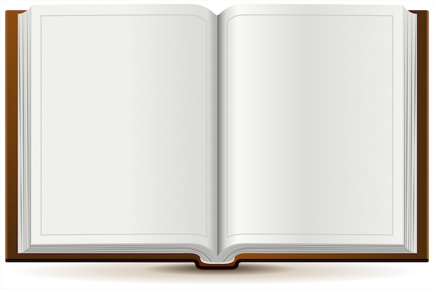 An open book in hardcover