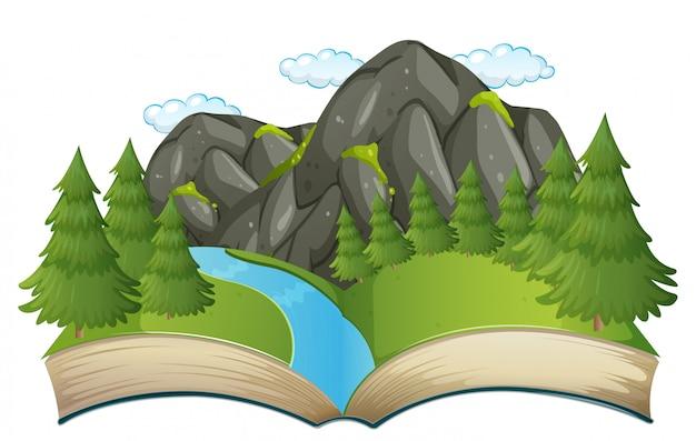 Open book nature theme