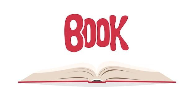 흰색 그림 위에 펼친 책