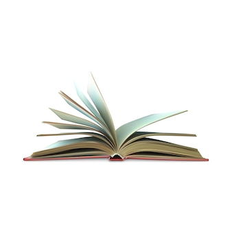 Шаблон открытой книги с белыми страницами