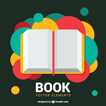 Open book with colorful dots on background Premium Vector