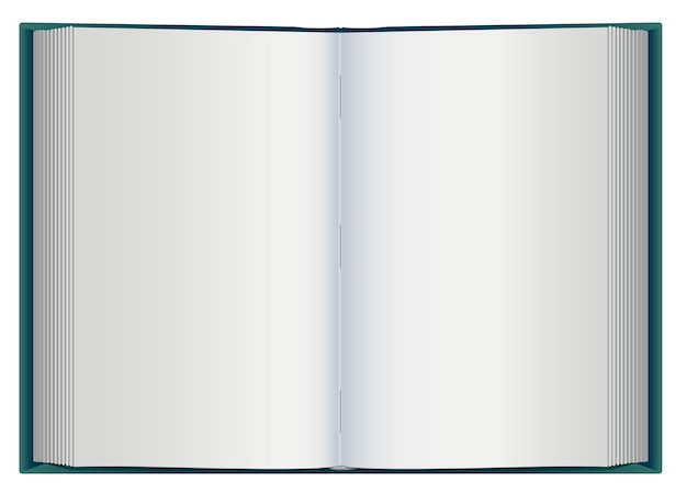 Open book with white blank pages