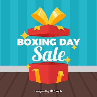 Open box boxing day sale background