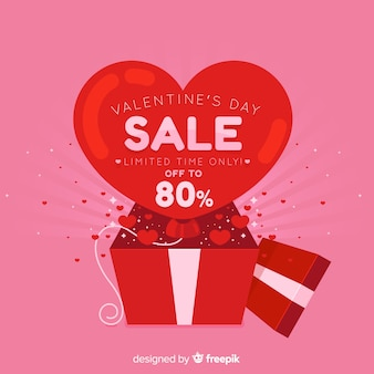 Open box valentine's day sale background
