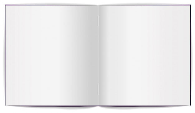 Open brochure with white clean sheets