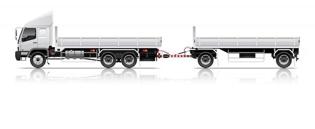 Open cargo trailer illustration