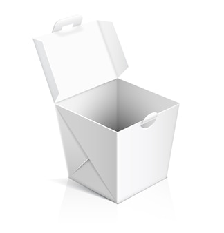 Open chinese food take out box