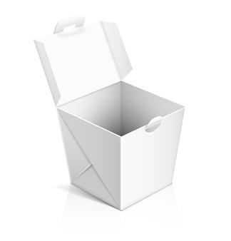 중국 음식 테이크 아웃 상자 열기