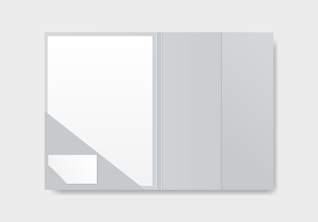 Open file folder with document.