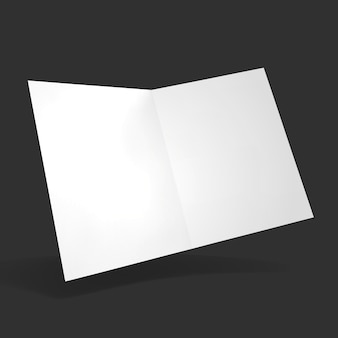 Open folder mockup vector illustration clear notepad with realistic light and shadow