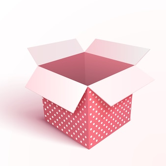 Open gift box isolated. 3d