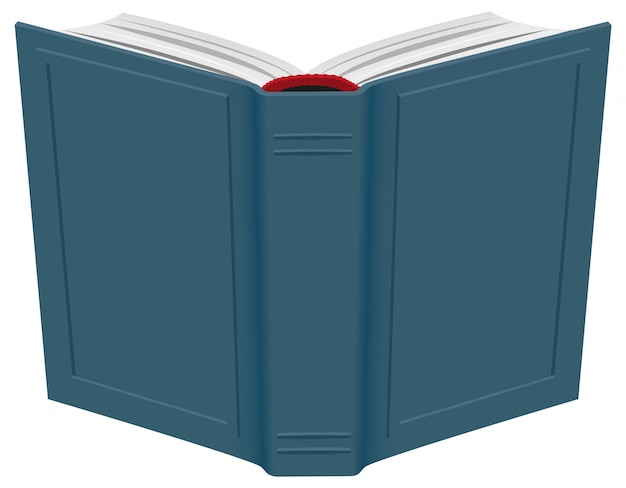Open hardcover book