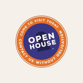 Open house label contact us