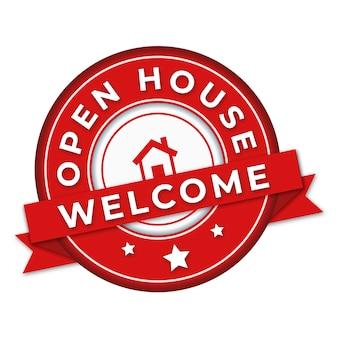 Progettazione di etichette open house con sorteggio