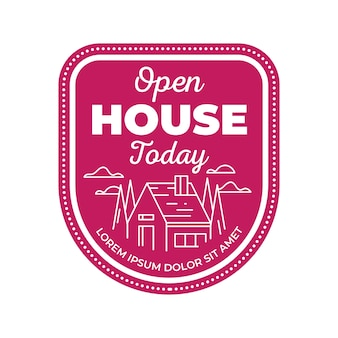 Open house label theme