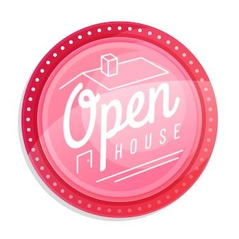 Etichetta di casa aperta