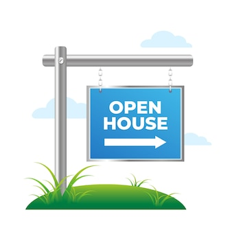 Open house sign concept