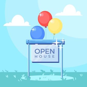 Концепция знака открытого дома